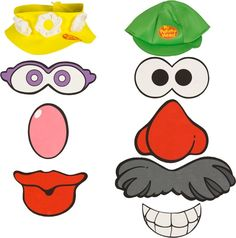 mr potato head parts printables clipart numbers 0 10 storytime rh pinterest com mr potato head parts clipart mr potato head parts clipart