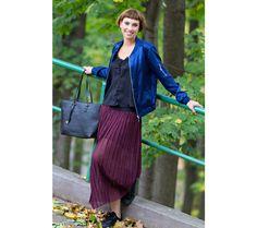 Polodlouhá plisovaná sukně | modino.cz #modino_cz #modino_style #style #fashion #newseason #autumn #fall