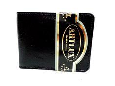 Carteira Masculina em Couro da Artlux, bem simples com espaço para dinheiro e cartões. Cód.155