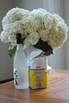 Make a bouquet of flowers last longer by adding a capful of vodka. | 34 Ways To Make Your Stuff Last As Long As Possible