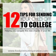 Need help sending your child off to college? Check out these great tips to help you navigate the next chapter in your lives.