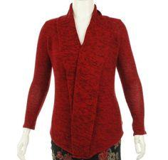INC International Concepts Metallic Open Front Sweater Real Red M INC International Concepts. $56.88