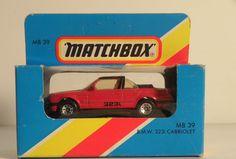 MATCHBOX LESNEY MB39 BMW 323i CABRIOLET 1/64 SCALE VTG DIECAST MODEL MIB NOS #Matchbox #BMW