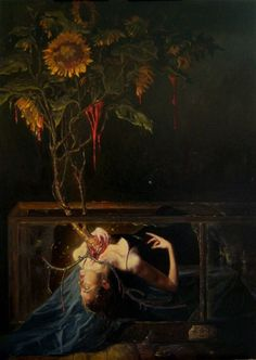 Creepy and beautiful, all at the same time. Botanica 23 by Gail Potocki. Creepy and beautiful, all at the same time. Botanica 23 by Gail Potocki. Art Noir, Renaissance Kunst, Posca Art, Arte Obscura, Art Ancien, Illustration Art, Illustrations, Arte Horror, Horror Art