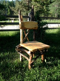 Alpine Dine Stickwork Dining Chair by jgrant0214 on Etsy, $260.00