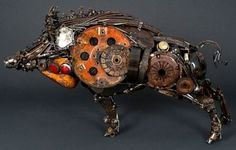 20 Mind Blowing Sculptures Made from Old Car Parts. You won't believe your eyes #spon #autoart