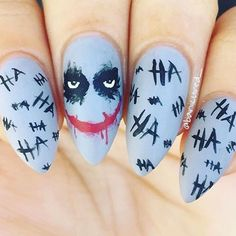 Joker nails by @Banicured_