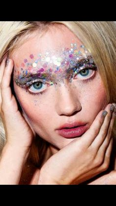 Sequin makeup creation