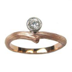 Diamond Vine Engagement Ring - Rose Gold | Handmade Designer Rings | Turtle Love Co. Jewelry