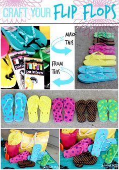 Craft Your Flip Flops ~ Sugar Bee Crafts