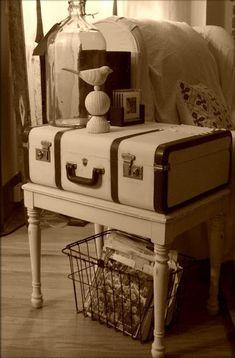 Vintage Suitcase Table 13