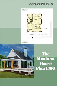 The Montana house plan 1560 is now in progress! 603 sq ft | 1 Bed | 1 Bath This tiny modern farmhouse is ideal for a vacation home or a rental property. A metal roof and wooden columns highlight the front porch while a deck wraps around the side of the home. Inside, find a cathedral ceiling with skylights above the great room and master bedroom. Special features include a three-sided fireplace, kitchen island, pantry, and a washer/dryer closet. #wedesigndreams #modernfarmhouse #tinyhouseplan Cheap House Plans, Unique Small House Plans, Cottage House Plans, Tiny House Plans, Low Budget House, Wooden Columns, Fireplace Kitchen, Montana Homes, One Story Homes