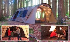 Insulated tent keeps campers warm - and blocks out noisy neighbours