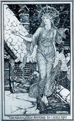 Fabulous VICTORIAN Snow QUEEN Vintage Digital Illustration. Digital Vintage Fairy Tale. Digital Wint