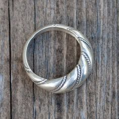 Viking Age Latvian Viesturs ring in sterling silver by Balticsmith, $45.00