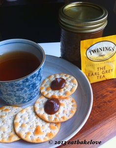 Have your tea on crackers? - Earl Grey Butter