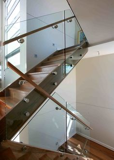 Stainless steel rails with anchors