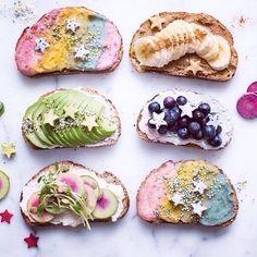 mermaid toast / torradas de sereia