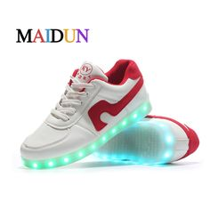 Aliexpress.com : Buy 2017 Men light jordan shoes luminous red and black chaussure home for adults colorful glowing casual fashion with hot sale walk from Reliable home dryer suppliers on LEDShoesTOP Store