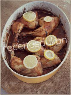 DUKAN : Cuisses de poulet au citron - Attaque, PP, PL, Conso, Lundi Escalier Nutritionnel Dukan Diet, Light Recipes, Pretzel Bites, Eating Habits, I Foods, Sweet Potato, Sausage, Vegetables, Ethnic Recipes
