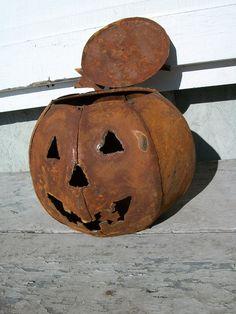 The OLE Rusty Pumpkin - Jack-o-Lantern