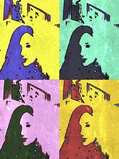 Una foto mia (Silvia) con fondo de Paper Artist y Editor fotos.
