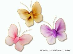 Step-by-step instruction on how to make nylon stocking butterfly. by Linda P. McDaniel