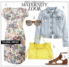 Maternity Look: Floral Dress