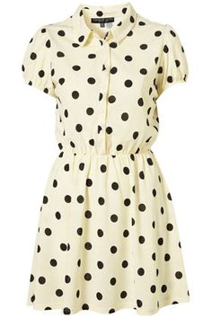 TOPSHOP polka dot day dress.