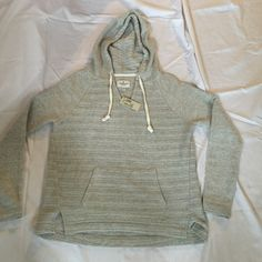 New! American Eagle oversize gray hoodie knit Nwt. Tag says medium but fits more like large. Very soft and cozy. American Eagle Outfitters Sweaters