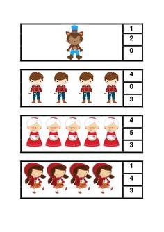 Caperucita Roja Toddler Learning Activities, Book Activities, Preschool Activities, Little Red Ridding Hood, Red Riding Hood, Preschool Class, Kindergarten Math, Phonics Books, Traditional Tales
