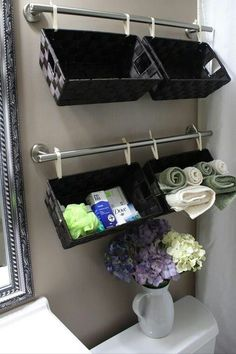 Practical and decorative bathroom idea
