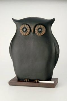Amazon.com: October Hill Decorative Black Chalkboard Owl Sculpture, 9.5 by 13.5-Inch: Home & Kitchen