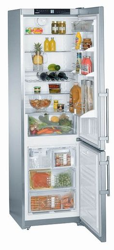 """CS1360 Liebherr 24"""" Freestanding Semi-Built In Cabinet Depth Refrigerator with Icemaker - Right Hinge - Stainless Steel"""