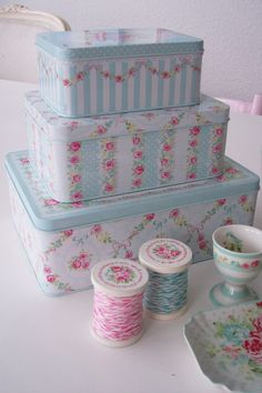 Such pretty tins.