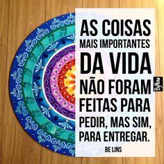 """1,338 curtidas, 9 comentários - ByNina (Carolina Carvalho) (@instabynina) no Instagram: """"Achei lindo! Inspiração @papeletudo  Mandala: @mandalas_da_ale  #frases #entrega #receba #gratidão…"""""""