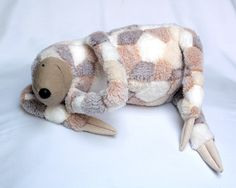 The fabric choice makes this guy! Lazy Sloth, stuffed animal toy for children by AndreaVida. €25.00, via Etsy.