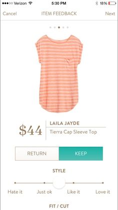 Laila Jade Tierra Cap Sleeve Top. I would love to see this in a color without stripes maybe!