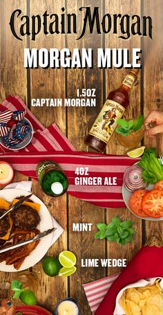 Turn on the grill and get ready to chill with Captain Morgan this Memorial Day. To fix yourself a Morgan Mule, muddle lime in the bottom of a tankard. Add ice, 1 part Captain Morgan Original Spiced Rum and 2 parts ginger ale. Garnish with mint sprig and lime wheel, stir, and enjoy! For those keeping score at home: 1 part = 1.5 oz. And remember–a Captain knows his limits. Please enjoy your summer bbq responsibly.