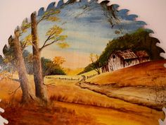Country Wall Decor Vintage Hand Painted Saw by TheVintageMomma, $30.00