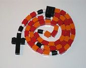 LEGO® brick Rosary Blue and White by MementoMoose on Etsy