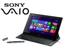 Sony Vaio Duo 11: By sliding the screen back a QWERTY keyboard reveals and transforms the tablet into a notebook.