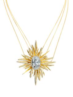 Beautiful starburst necklace by House of Waris for Forevermark.