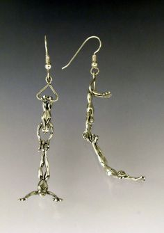 Trapeze Frog Earrings by SheppardHillDesigns on Etsy, $50.00
