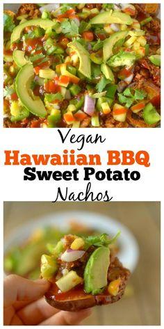 Vegan Hawaiian BBQ Sweet Potato Nachos   Sweet Earth Natural Foods