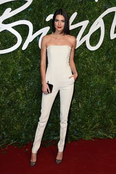Kendall Jenner at British Fashion Awards 2014 |