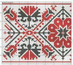 Gallery.ru / Фото #16 - μεντα - ergoxeiro Just Cross Stitch, Cross Stitch Borders, Cross Stitch Patterns, Knitting Stitches, Knitting Patterns, Boho, Hand Embroidery, Scandinavian, Diy And Crafts