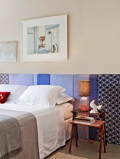 """Cabeceiras... Inspire-se e crie a sua Simples, coloridas ou sofisticadas, elas dão um """"upgrade"""" ao quarto deixando-o mais bonito e aconchegante."""