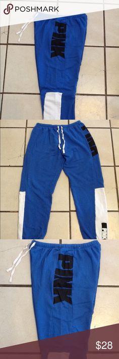 VS Pink signature Capri pants, Sz. M . Excellent ! VS Pink Capri sweat pants, Sz. M .. In excellent condition !  No issues, smoke free home. PINK Victoria's Secret Pants Track Pants & Joggers