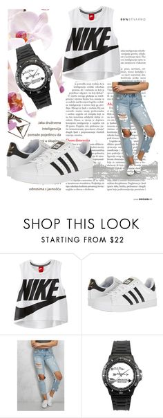"""Untitled #319"" by lugavicjasmina ❤ liked on Polyvore featuring NIKE, adidas and Rare London"